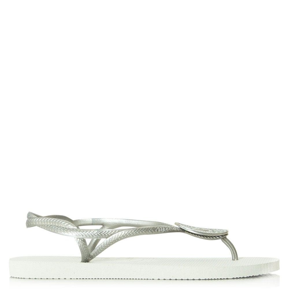 92adeca2381 Lyst - Havaianas Luna Special Swarovski Crystal White Flip Flop in White