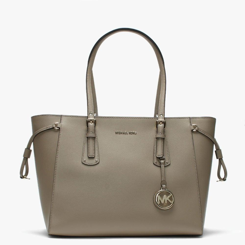 8441c2e2380a Michael Kors Voyager Truffle Saffiano Leather Tote Bag - Save 31% - Lyst
