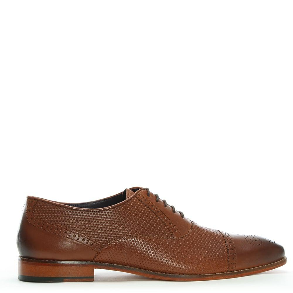 9ced28ecbdc Gucinari Tan Leather Textured Brogues in Brown for Men - Lyst