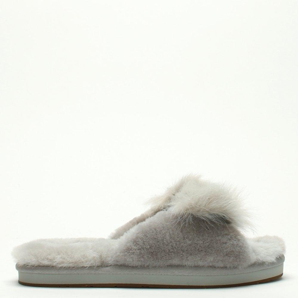 c955abbd08 Ugg Mirabelle Willow Sheepskin Slippers in Gray - Lyst