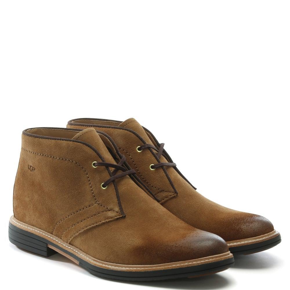 Ugg - Brown Men'S Dagmann Chestnut Suede Chukka Boots for Men - Lyst. View fullscreen