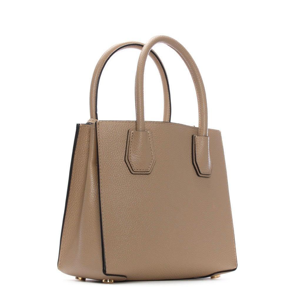 492c03e28a474 Lyst - Michael Kors Mercer Medium Oyster Leather Messenger Bag in ...