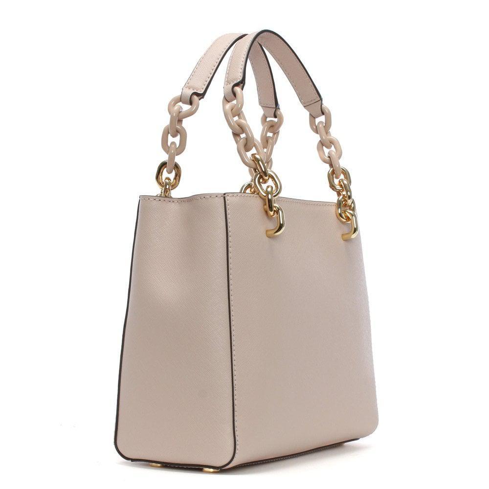 Michael Kors - Small Cynthia North South Soft Pink Leather Satchel Bag -  Lyst. View fullscreen 7a67dc6131e38