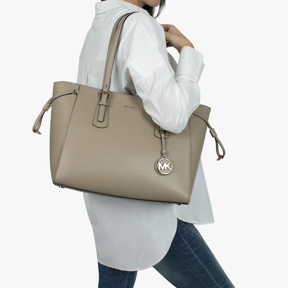 2feb0bbd5b72 Michael Kors - Multicolor Voyager Truffle Saffiano Leather Tote Bag - Lyst.  View fullscreen