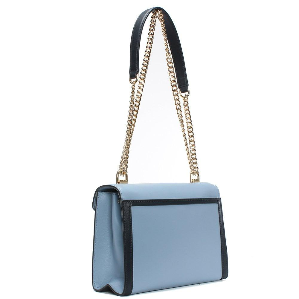 lyst michael kors whitney large pale blue admiral leather rh lyst com