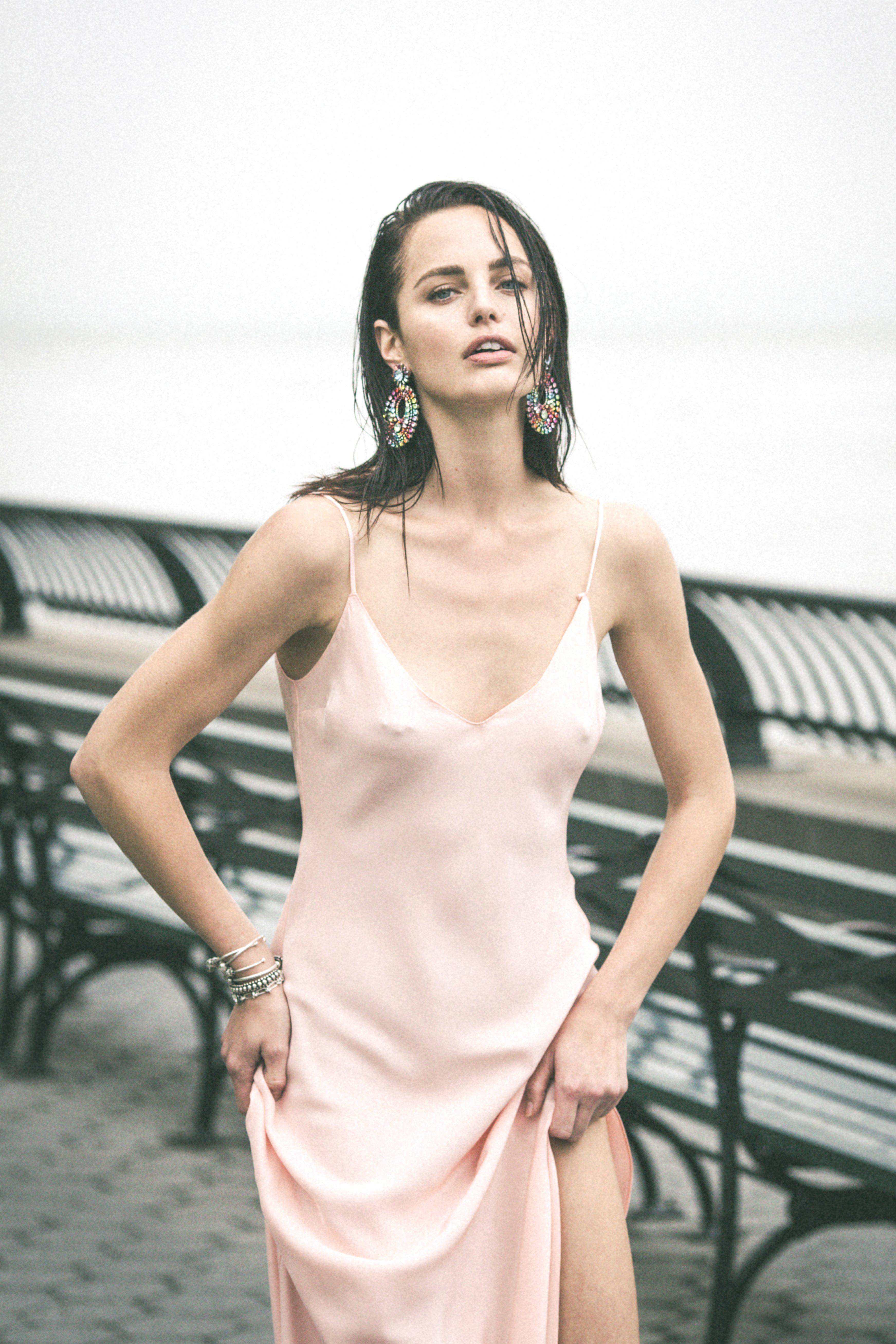 3518c97e61fb DANNIJO Pale Pink Slip Dress in Pink - Lyst
