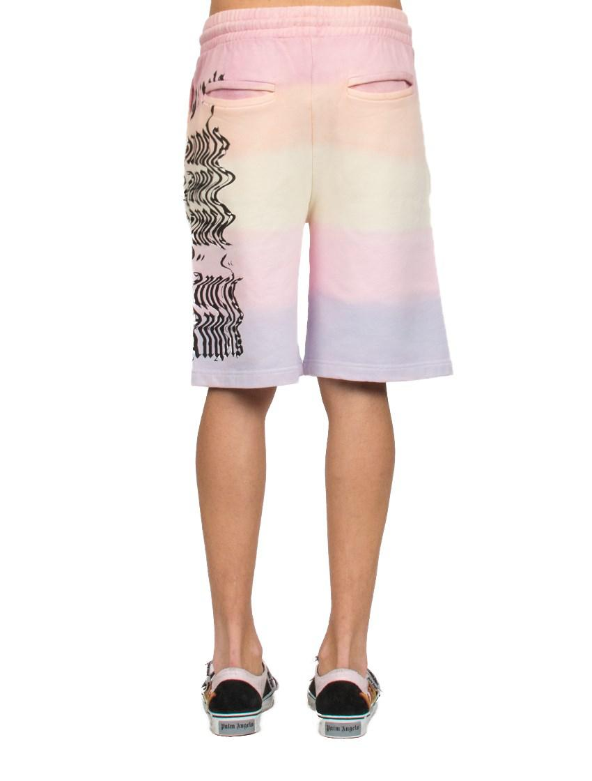 a30c613fce Palm Angels Tie-dye Shorts in Pink for Men - Lyst