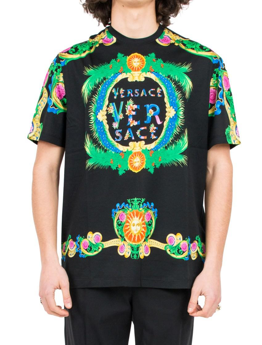 48ada313 Versace 'beverly Palm' T-shirt in Green for Men - Lyst