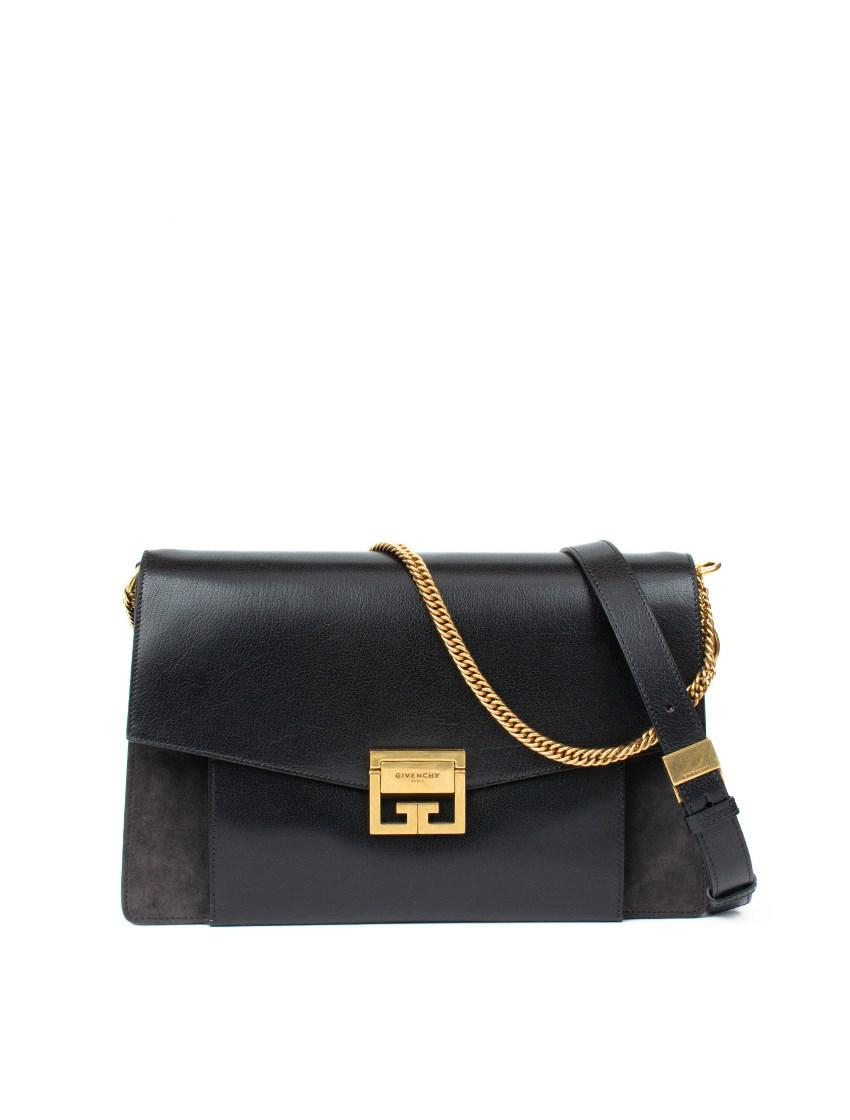9b96d1099bdc Givenchy - Black Gv3 Bag In Leather And Suede - Lyst. View fullscreen