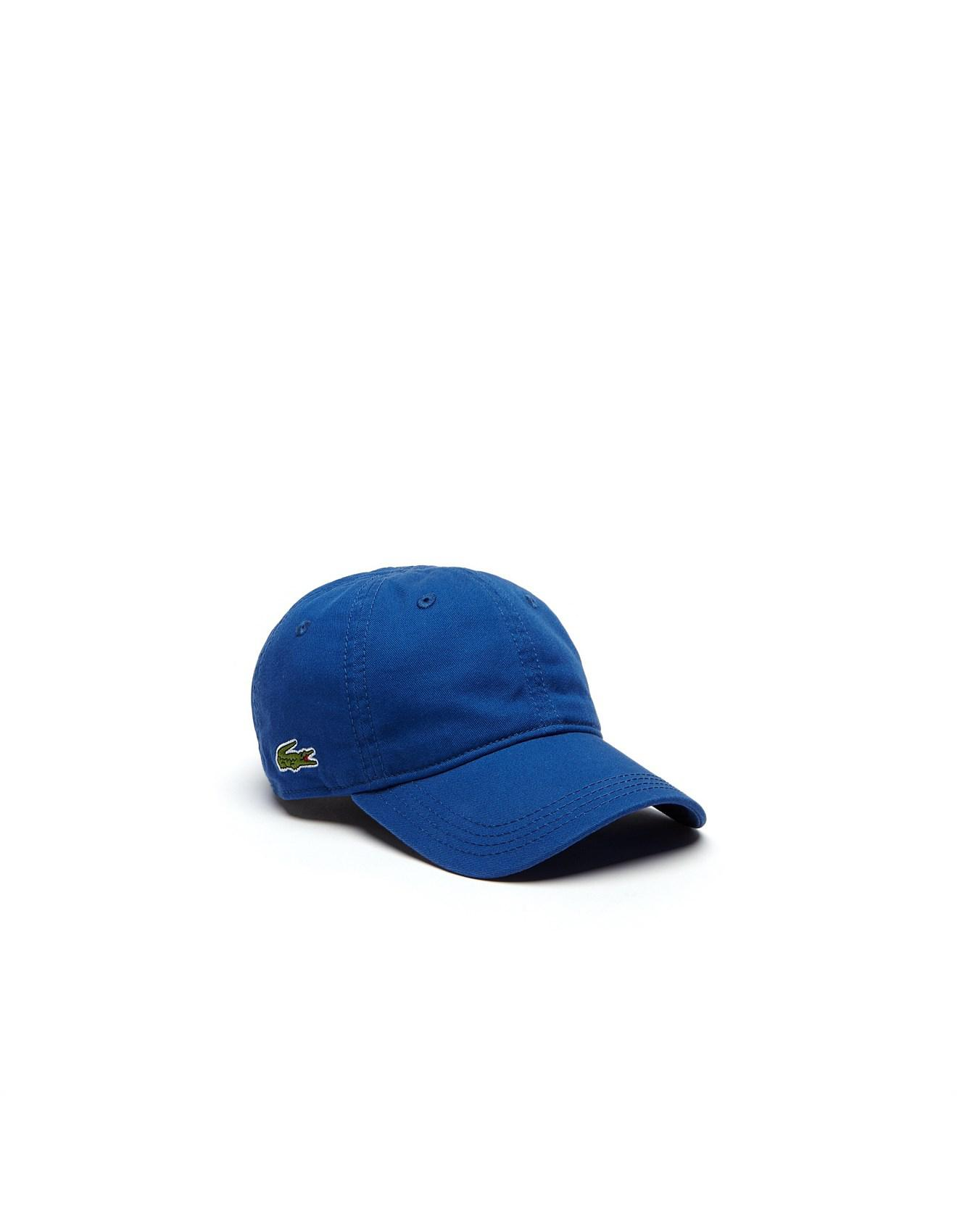 ecbb3fc94 Lacoste Basic Side Croc Cap in Blue for Men - Lyst