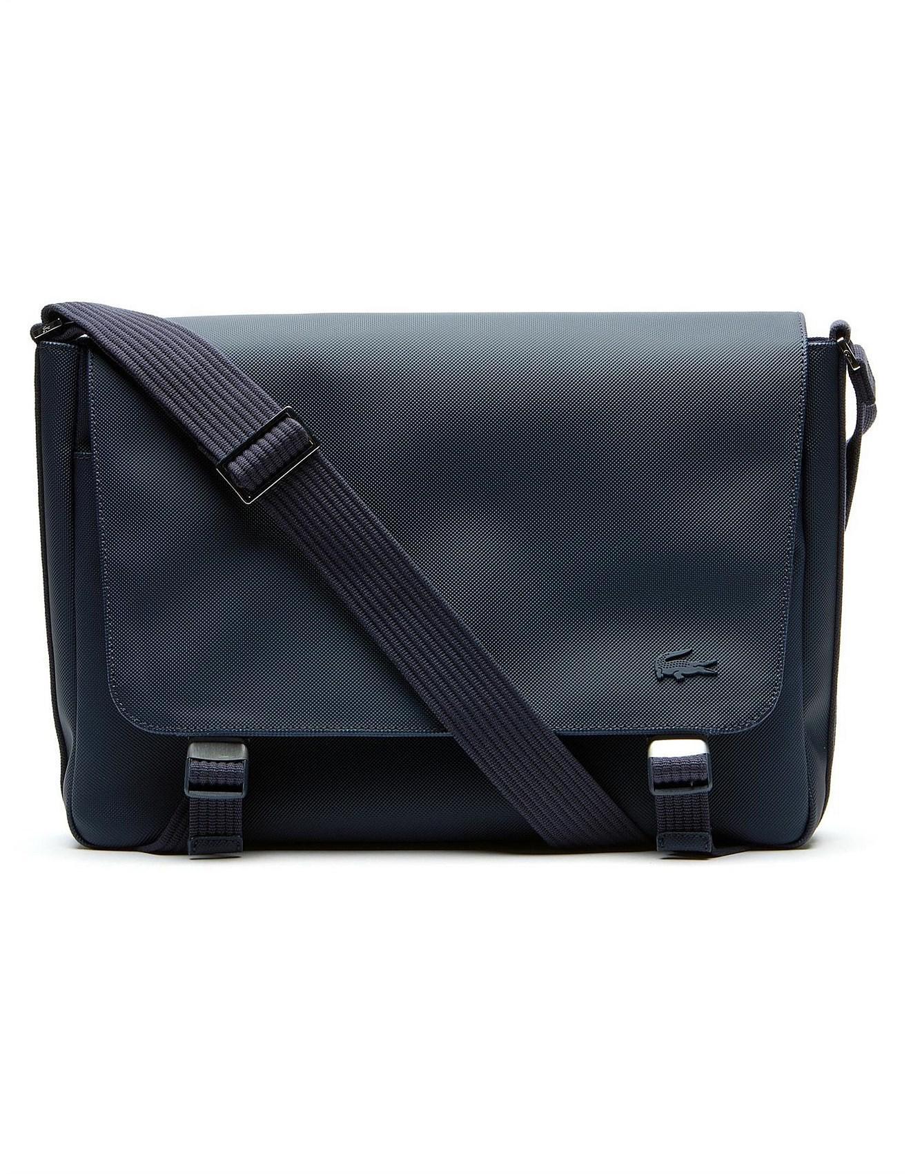 cdac3c1d7a7909 Lacoste Mens Classic Messenger Bag in Blue for Men - Lyst
