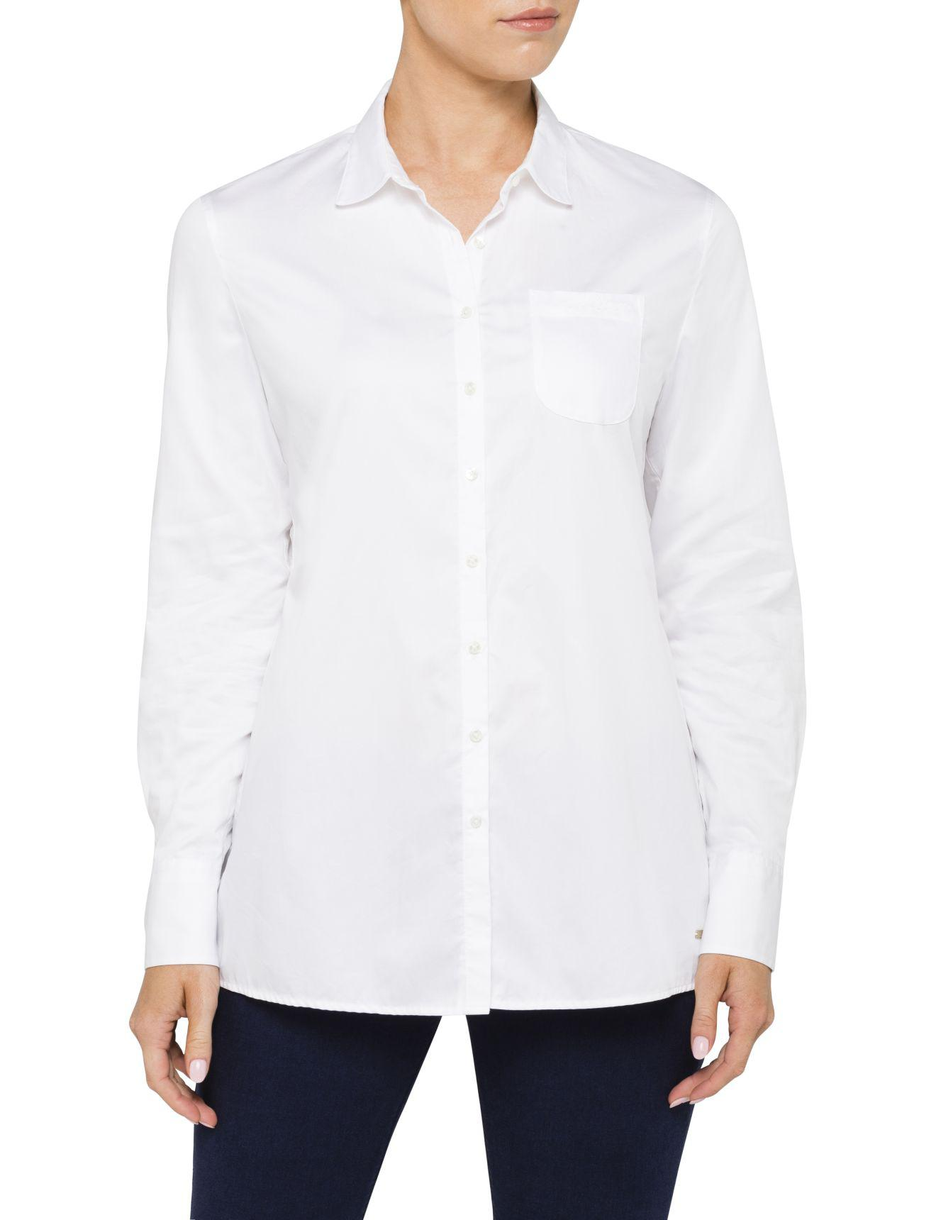 9eac7c0747d9f Tommy Hilfiger Arwin Pique Trim Shirt Ls A-line in White - Lyst