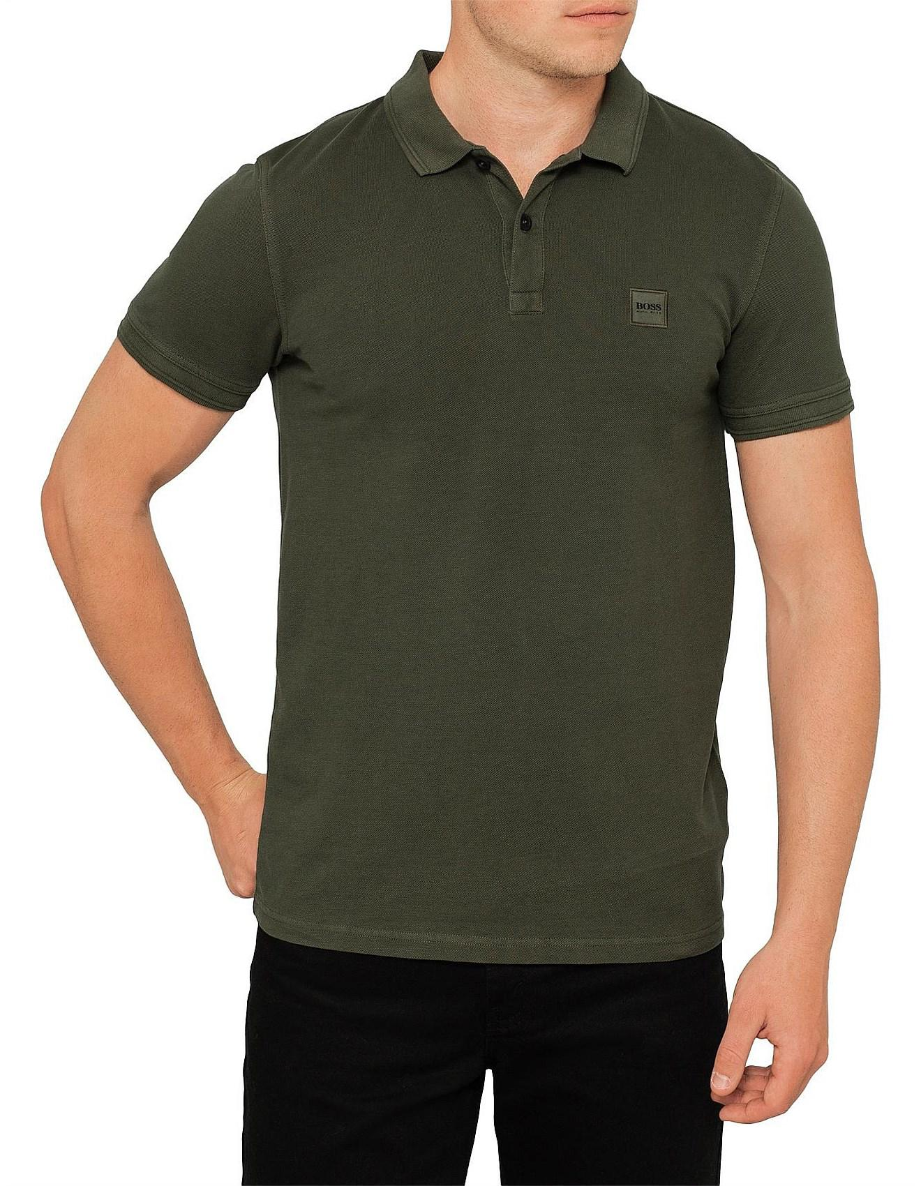 5c4ac0edf18d BOSS Orange Prime Core Pique Polo W  Chest Logo in Green for Men - Lyst
