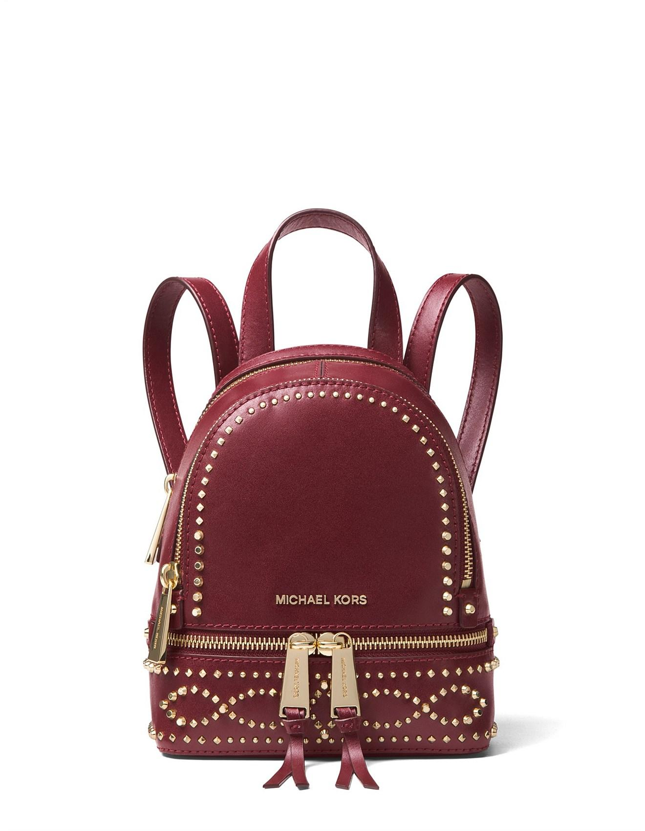 09644df75748 Michael Kors - Multicolor Rhea Mini Studded Leather Backpack - Lyst. View  fullscreen