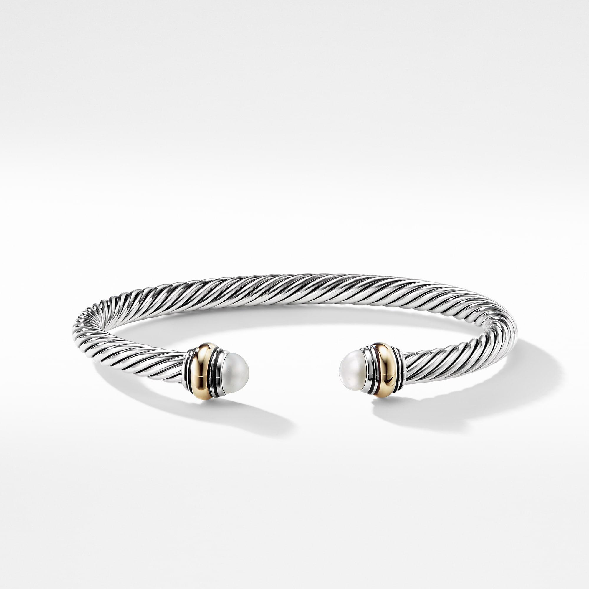Lyst David Yurman Cable Classic Bracelet With Pearl And 14k Gold
