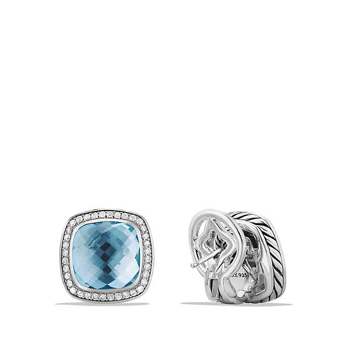 david yurman albion 174 earrings with blue topaz and diamonds