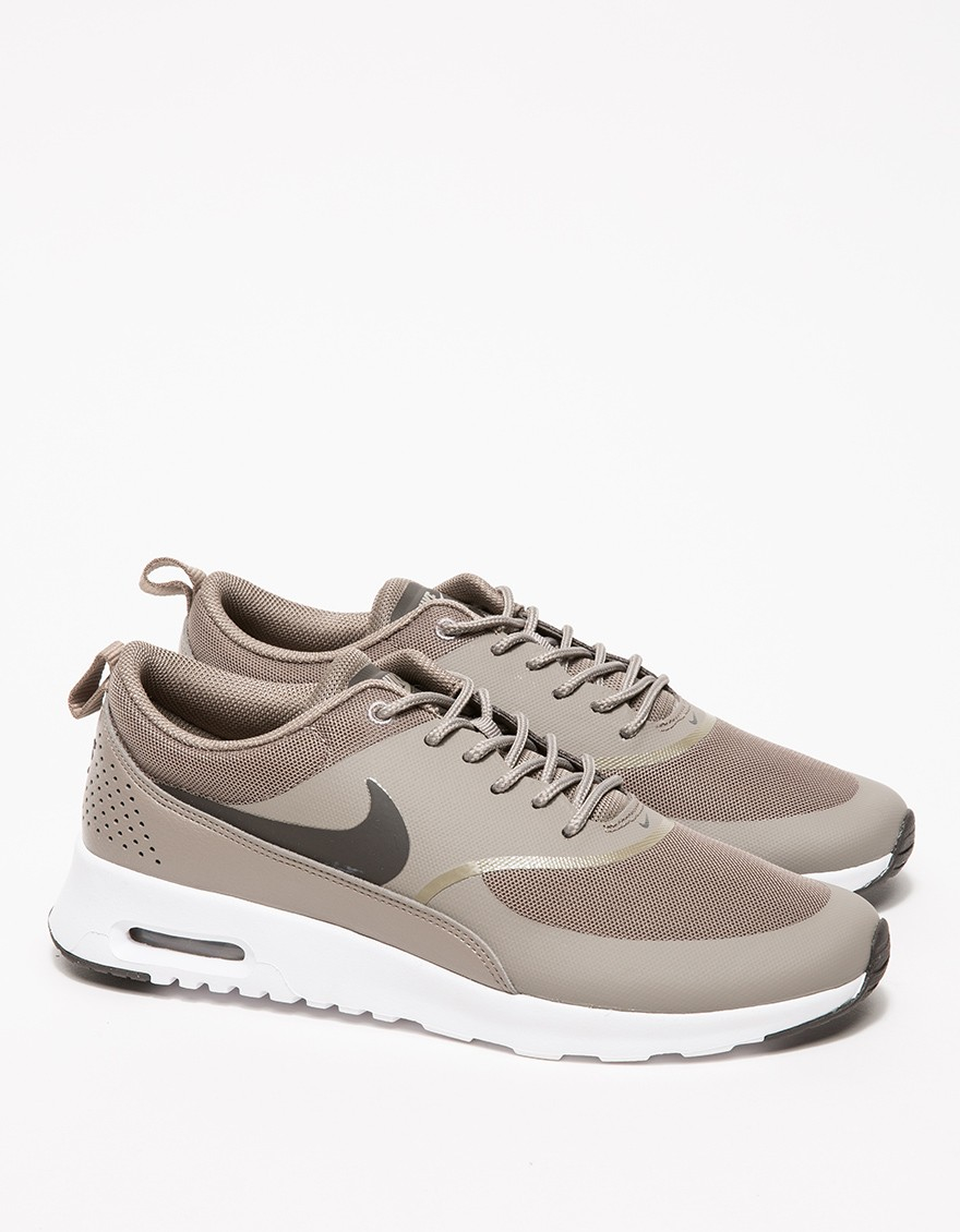 nike air max thea brown suede pumps