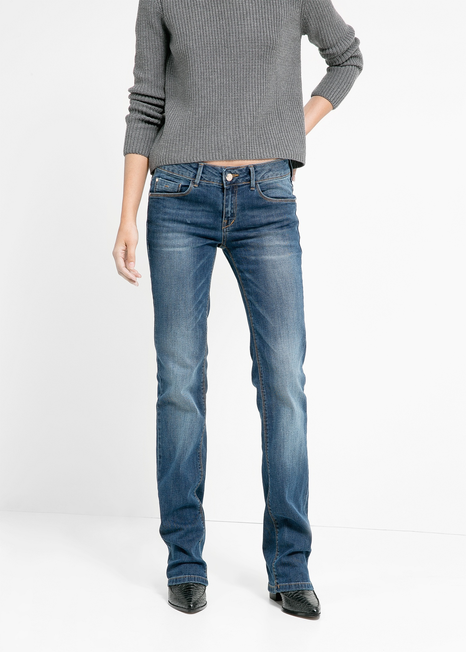 98639f09a9 Lyst - Mango Bootcut Christy Jeans in Blue