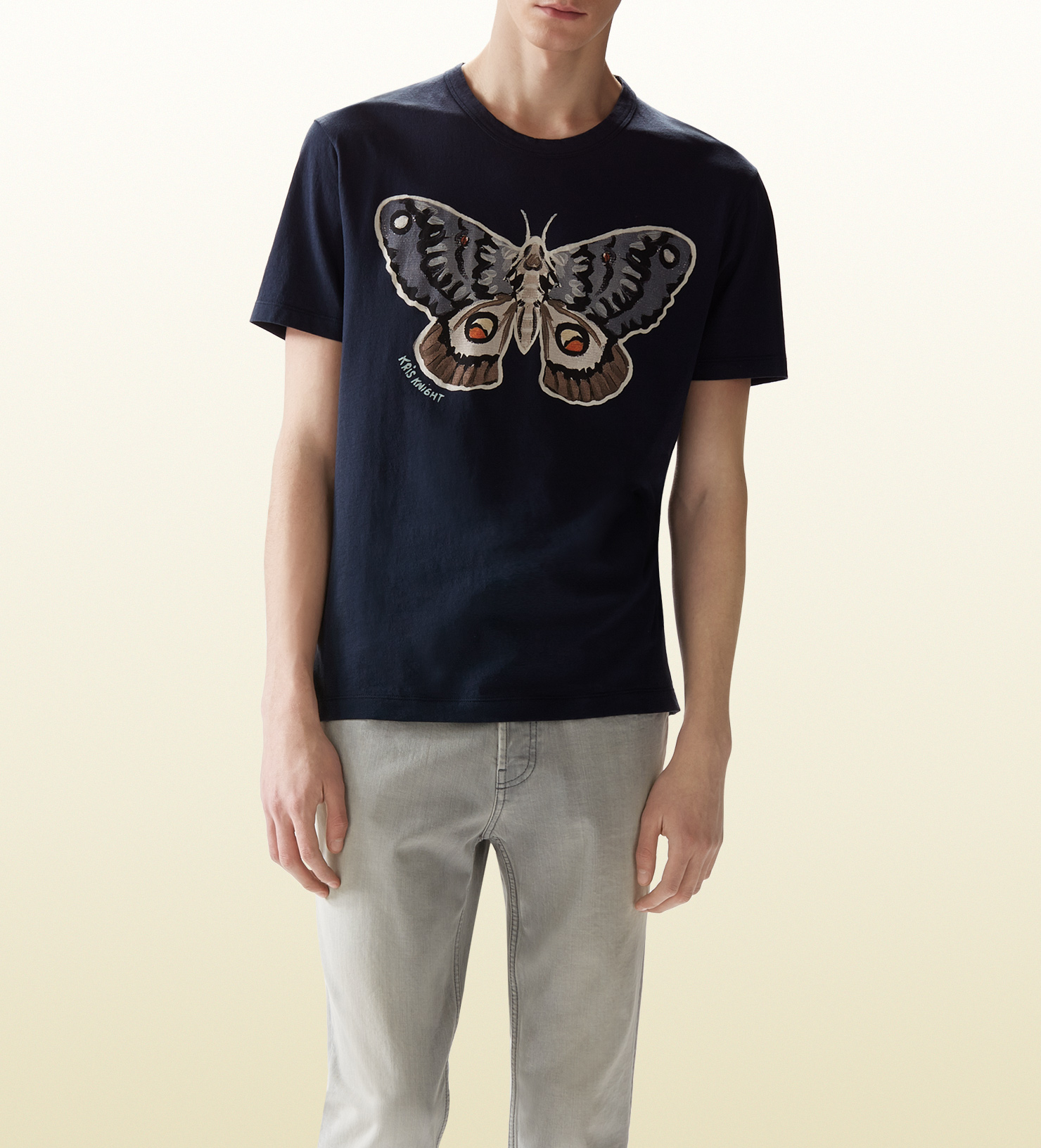 f494a0b42 Gucci Kris Knight Butterfly Print T-shirt in Blue for Men - Lyst