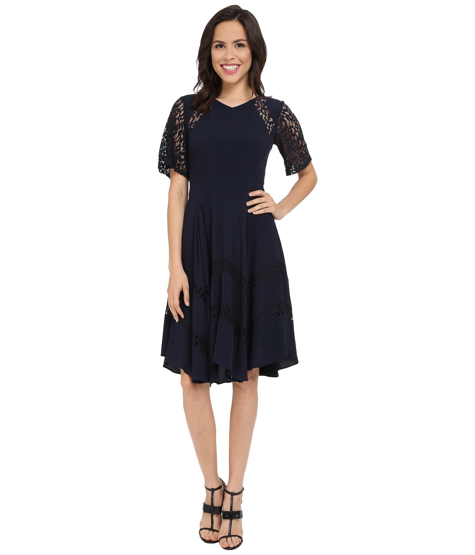 Rebecca taylor navy lace dress