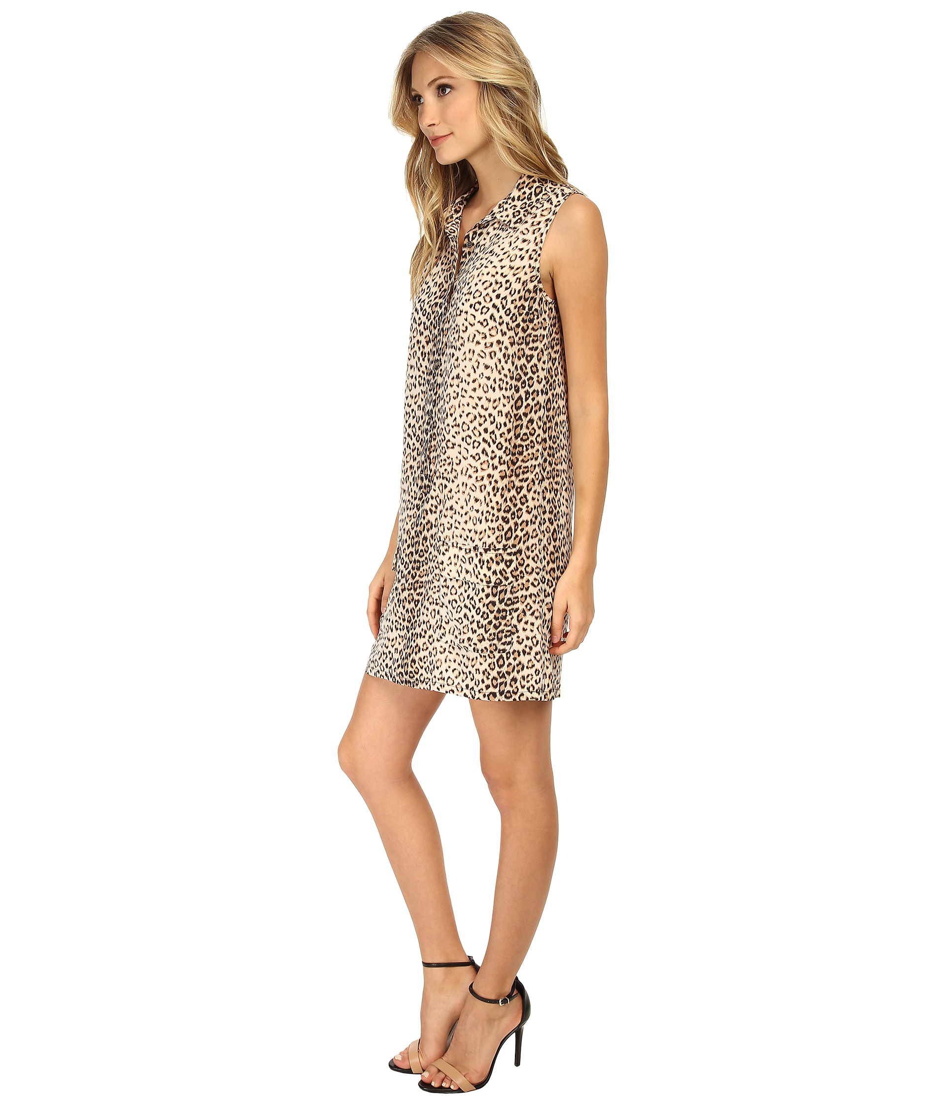cbb3407a5ed0c9 Lyst - Equipment Sleeveless Lucida Dress Leopard Print