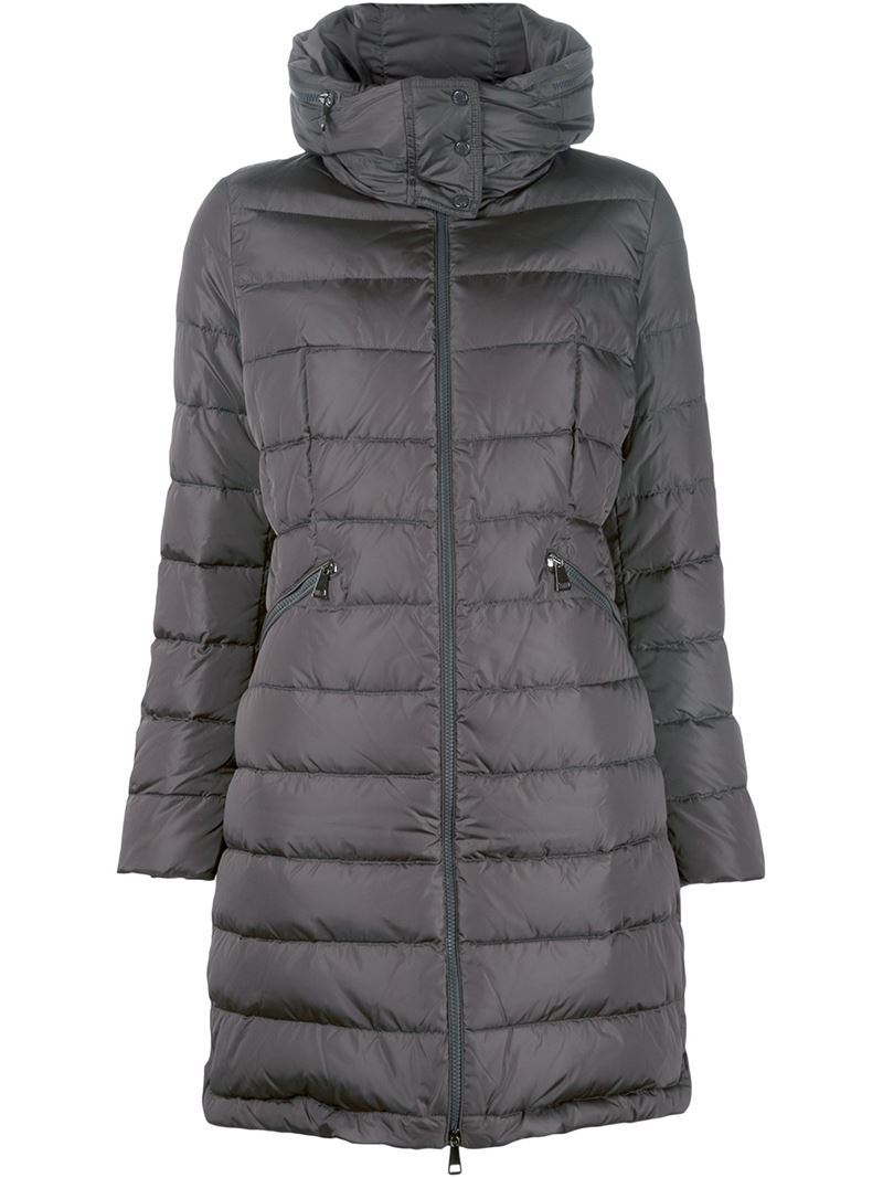 Moncler Flamette Padded Coat In Gray Lyst