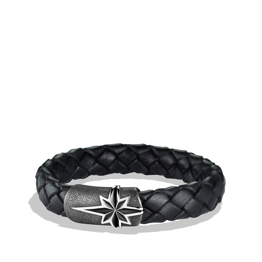 David Yurman Maritime North Star Bracelet In Black For Men