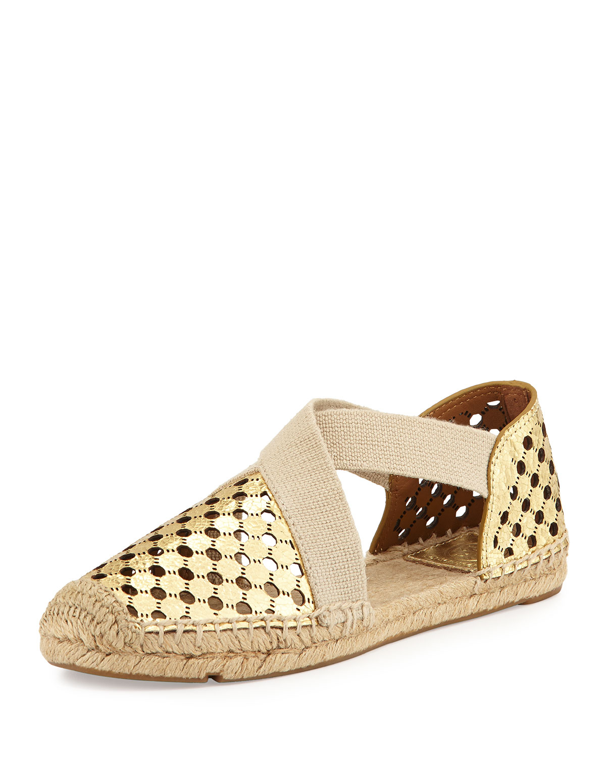 61b85a73ef65 Lyst - Tory Burch Catalina Perforated Espadrille Flat in Natural