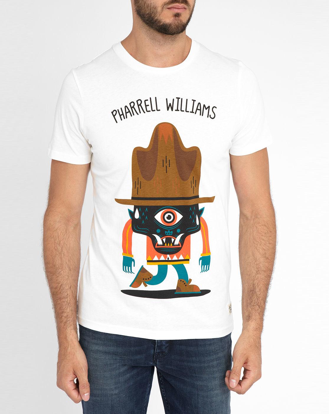 jack jones white pharrell williams print short sleeve t shirt for. Black Bedroom Furniture Sets. Home Design Ideas