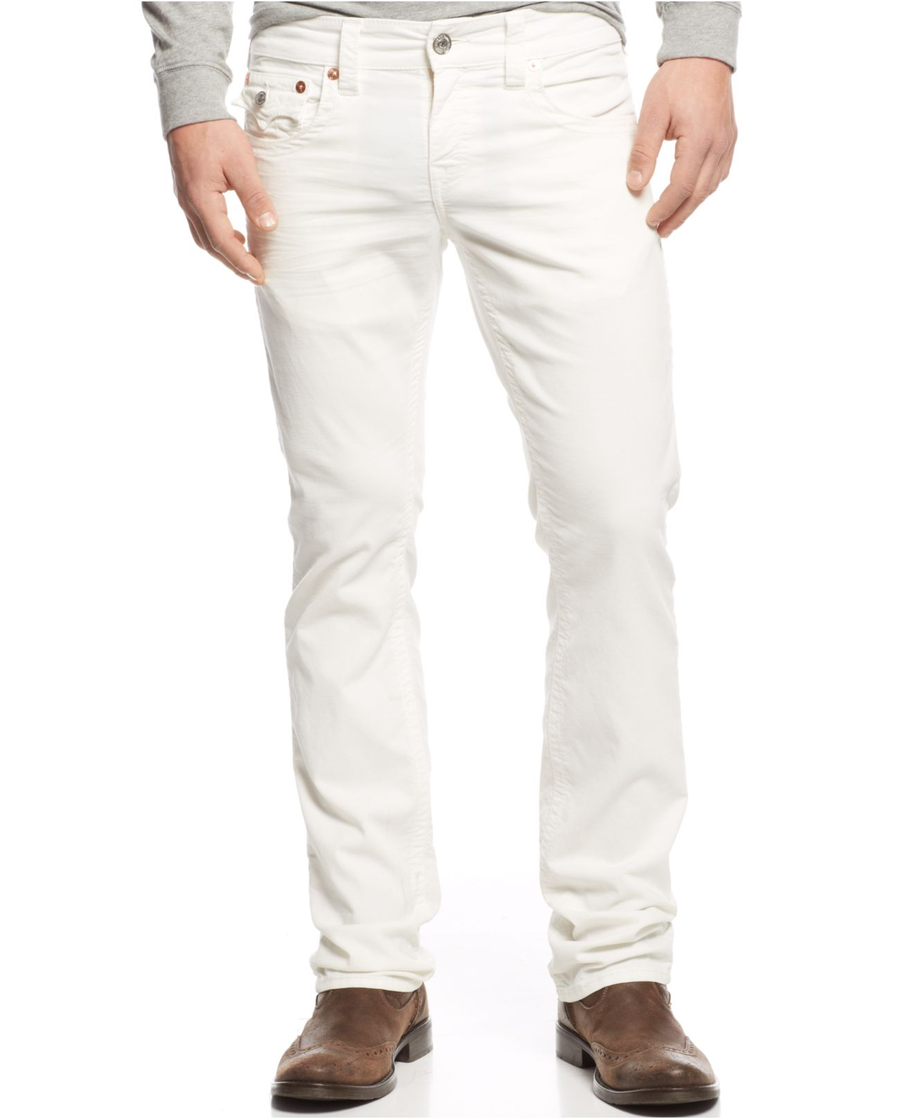 True religion Ricky Corduroy Jeans in White for Men | Lyst