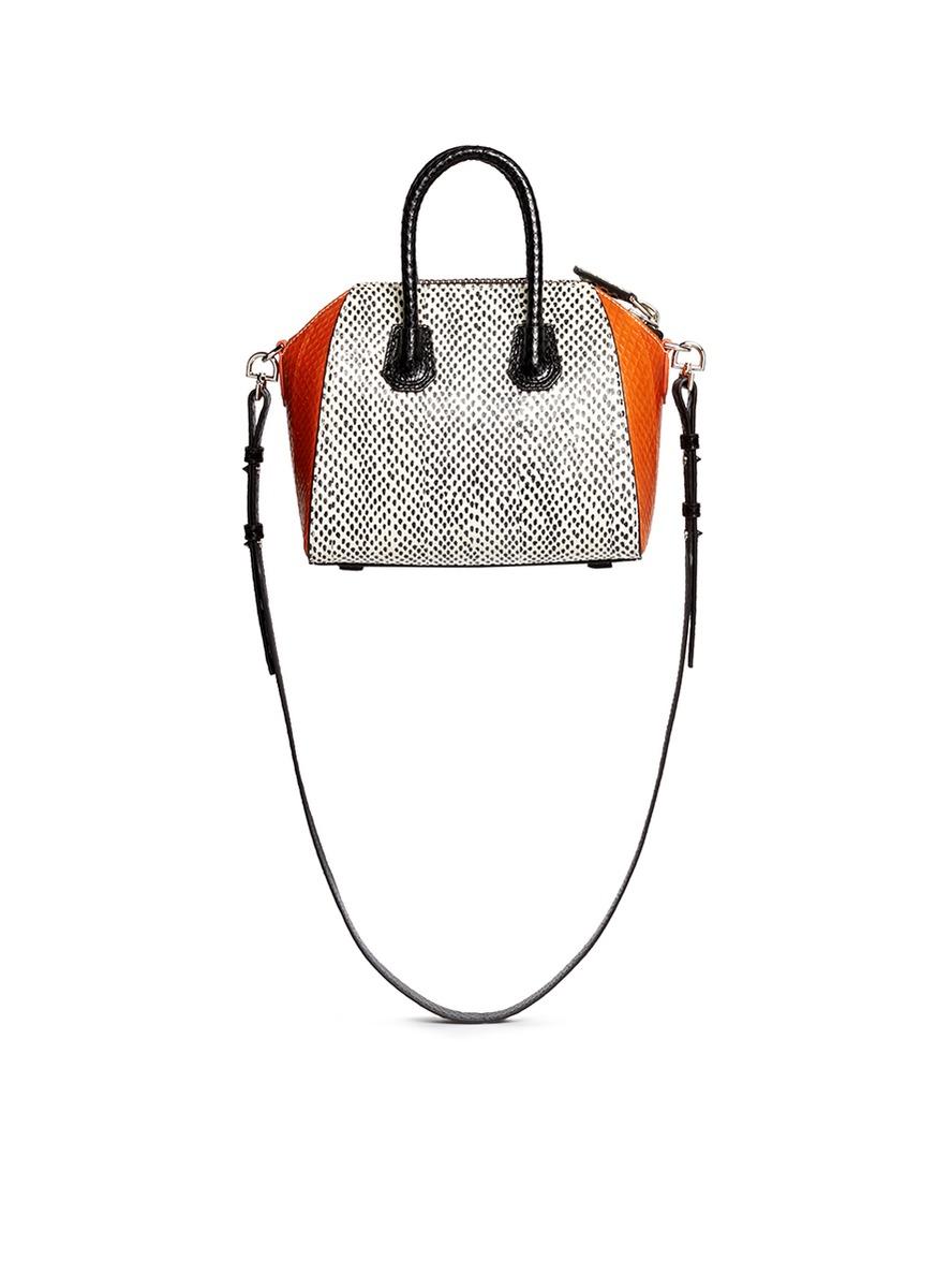 95d8c6c066 Lyst - Givenchy  antigona  Mini Snakeskin Bag