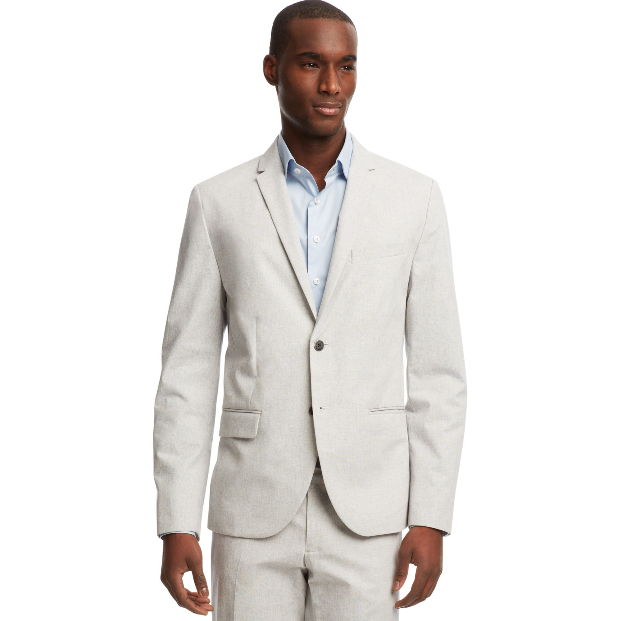 Kenneth Cole Reaction Superslim Fit Blazer In White For