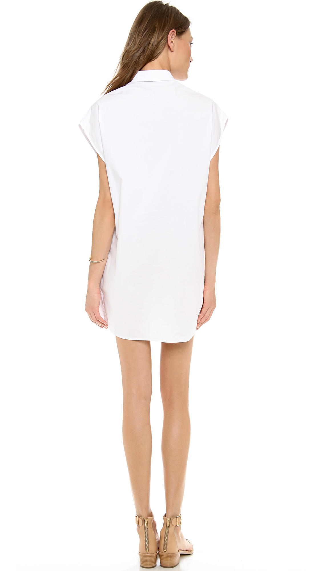 Lyst emma cook embroidered shirt dress in white for How to embroider a shirt