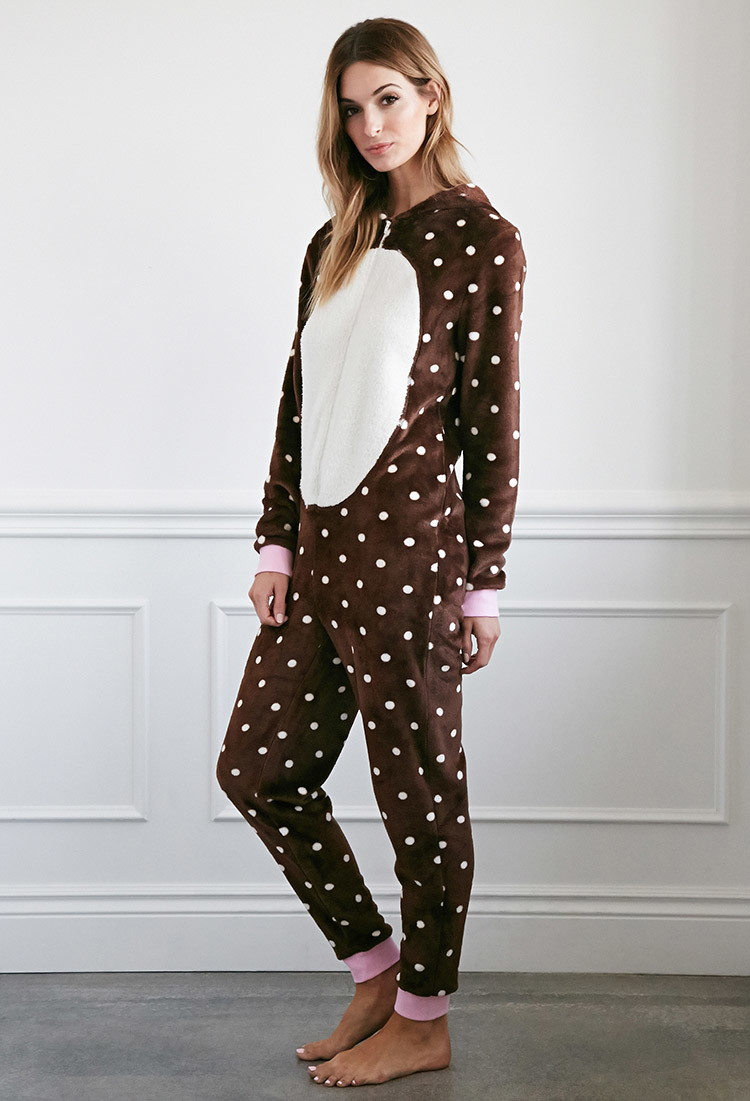 forever 21 plush polka dot bear jumpsuit you u0027ve been added to the