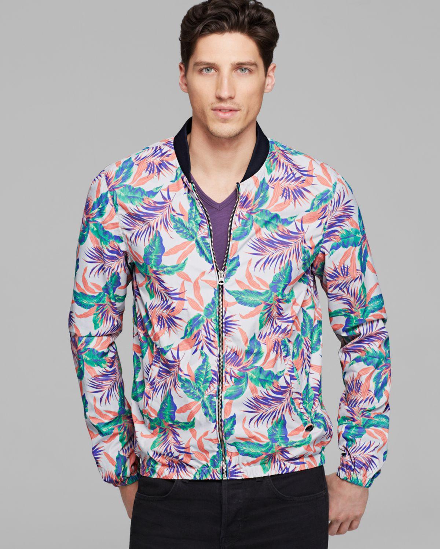 Scotch & soda Floral Printed Bomber Jacket for Men | Lyst