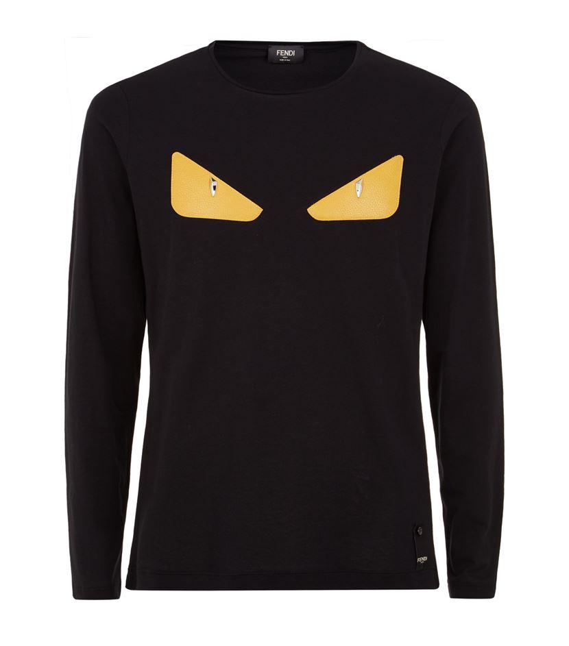 16c29e07e Fendi Studded Monster Eyes T-shirt in Black for Men - Lyst