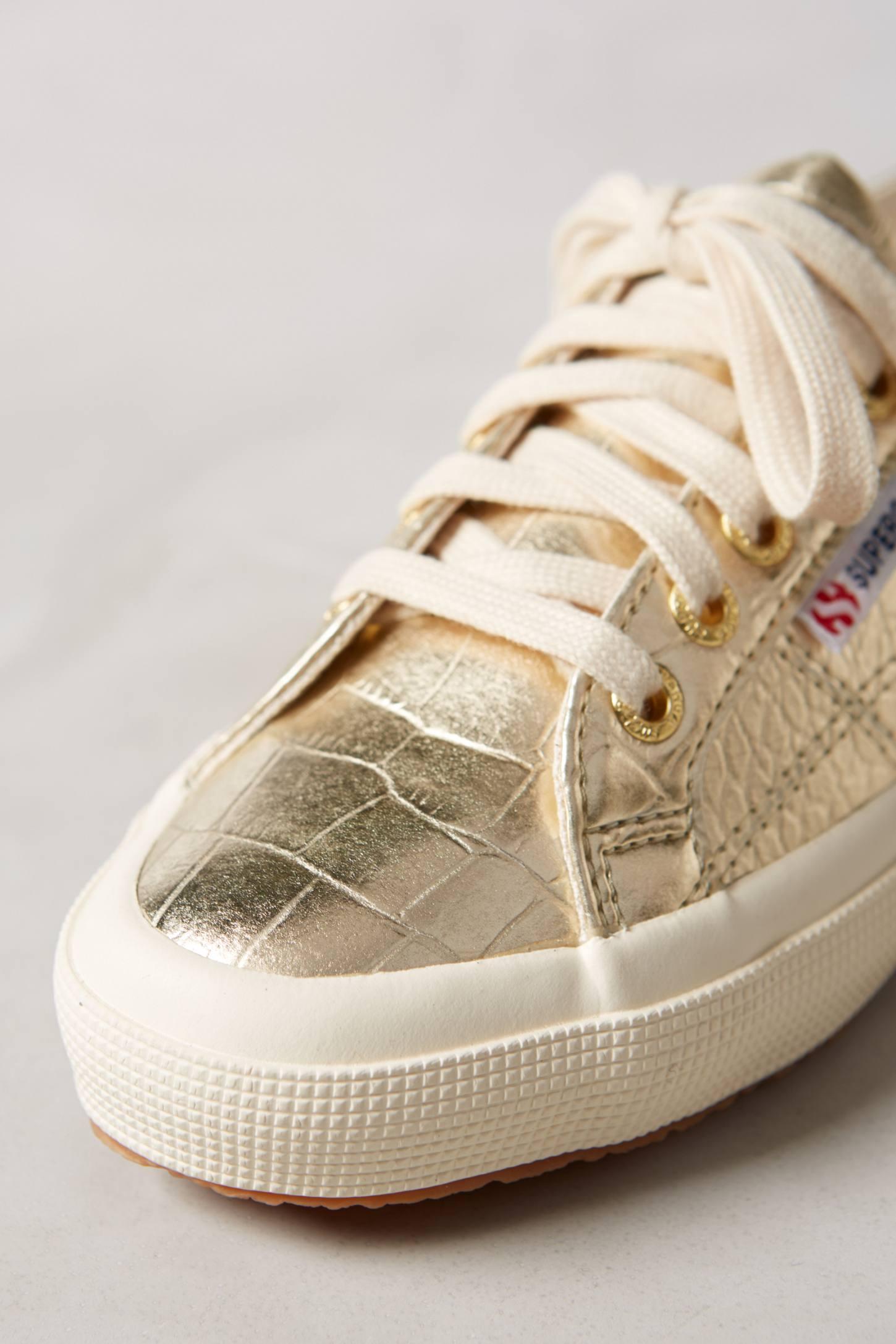 Superga: Superga Metallic Sneakers In Metallic