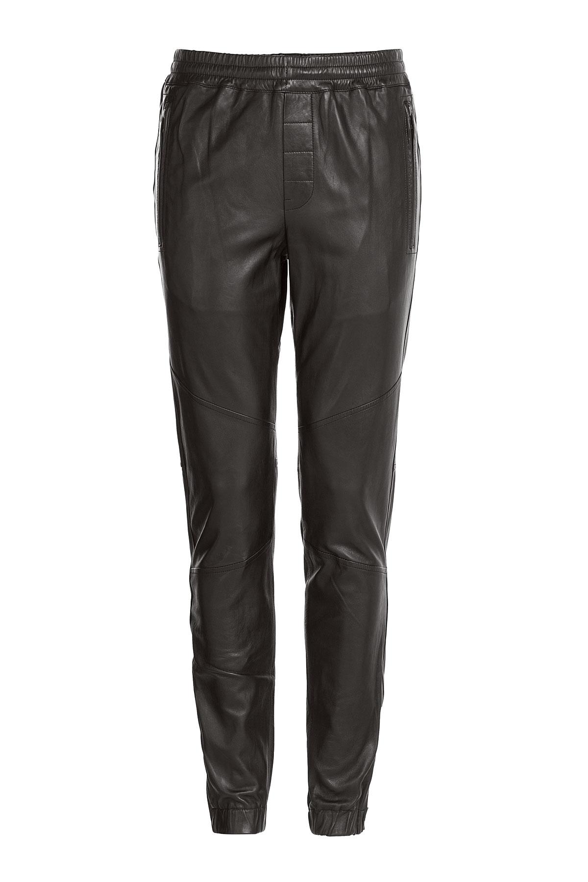 Lyst - Vince Leather Jogging Pants - Black in Black for Men