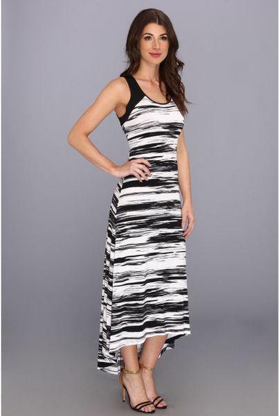 Calvin Klein Printed Hilow Maxi Matte Jersey Dry Ao Dress