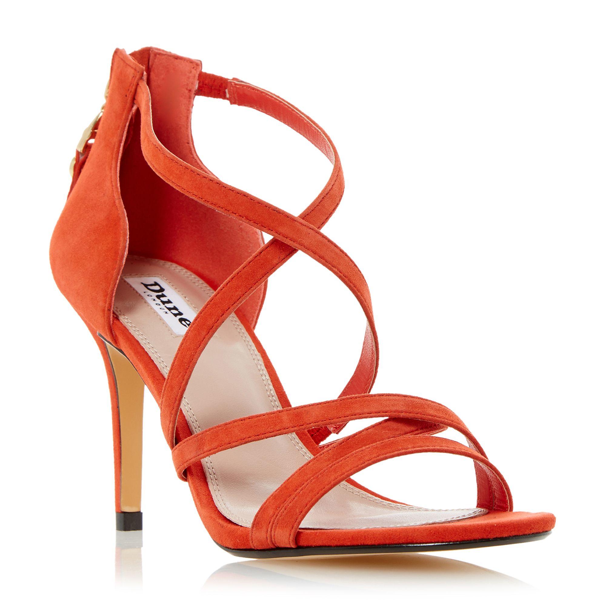 Bright Orange Two Part Strappy Heeled Sandal - Orange patent Dune London h7wGtRTVHE