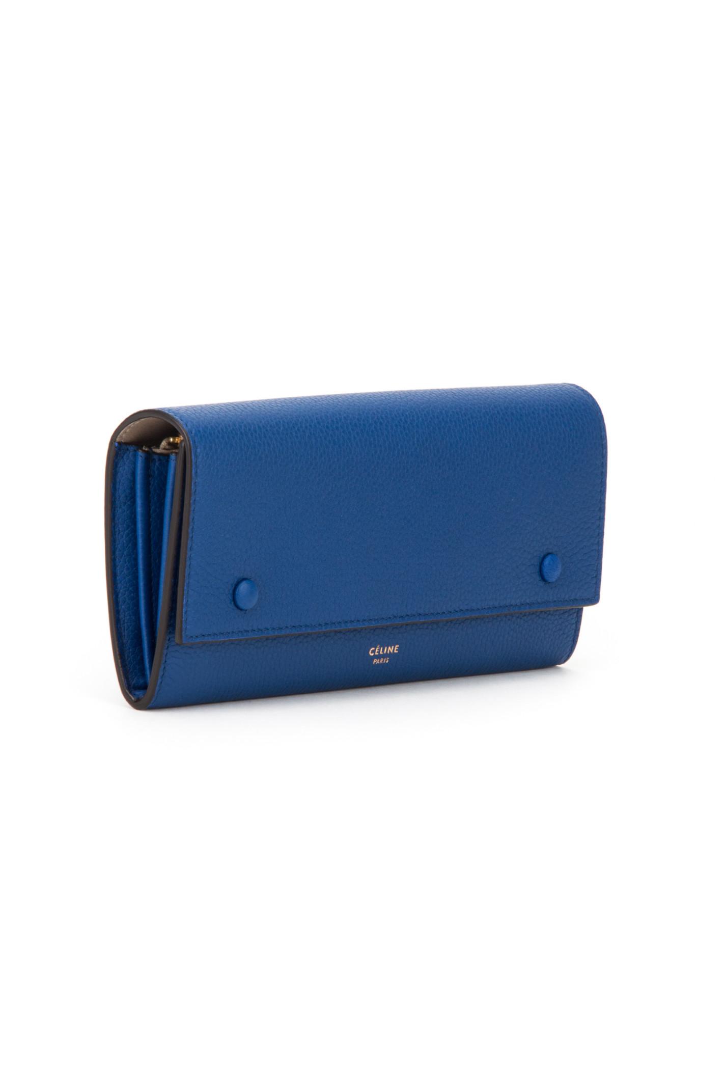 black celine handbag - celine blue leather multifunction tri fold wallet, celine bag costs