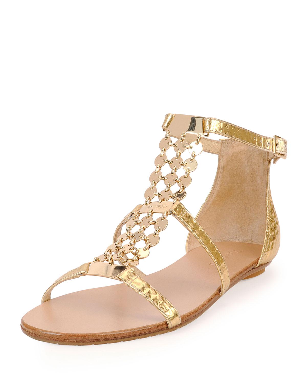 43a908a1d23 Jimmy Choo Metallic Leather Sandal in Metallic - Lyst
