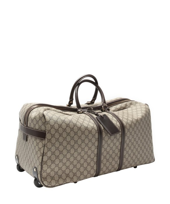 b8d6469d01f5 Gucci Beige And Ebony Gg Plus Large Rolling Duffel Bag in Natural ...