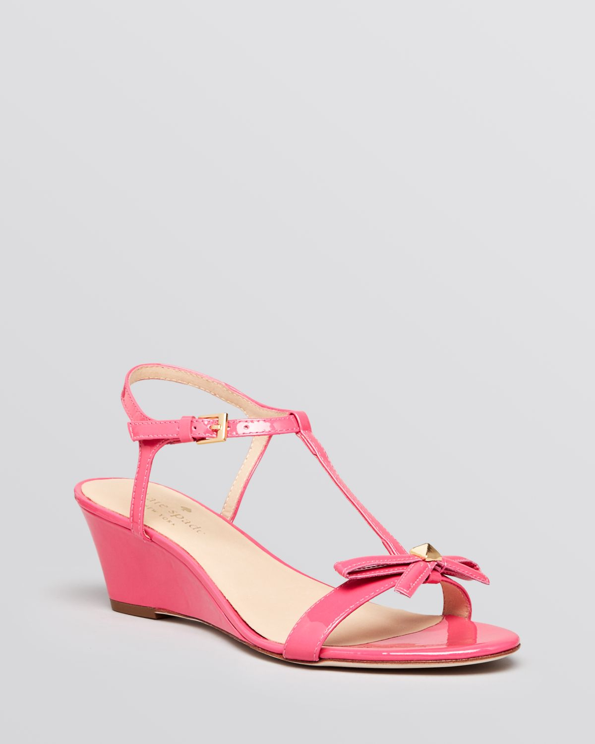 ee1994004b1 Lyst - Kate Spade Wedge Sandals Donna T Strap in Pink