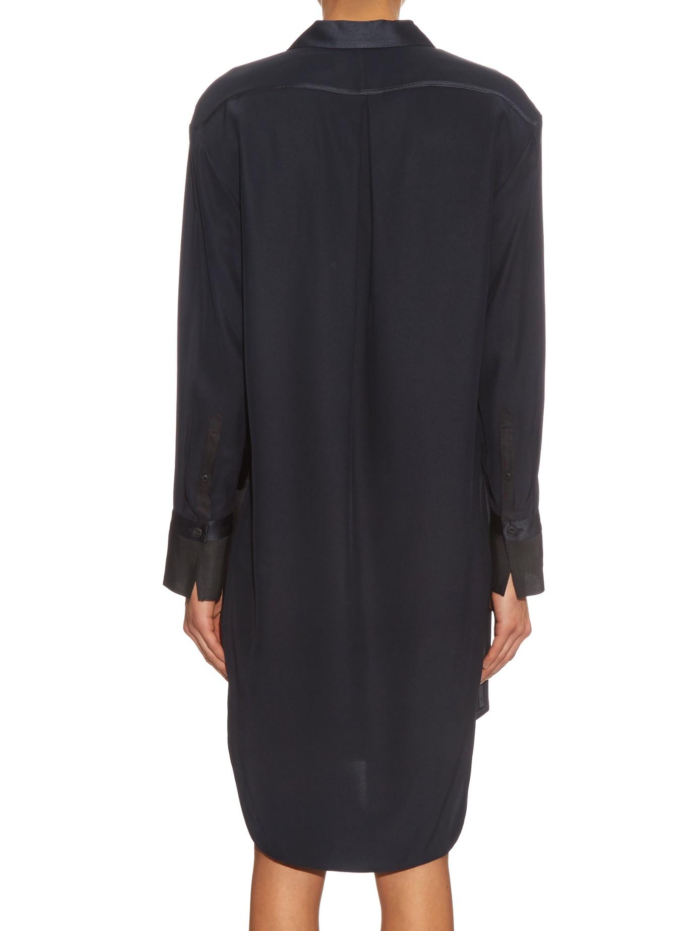 Outlet Official Site Outlet Footlocker Rag & Bone Woman Ava Silk Shirt Dress Navy Size 2 Rag & Bone xBarI52YY