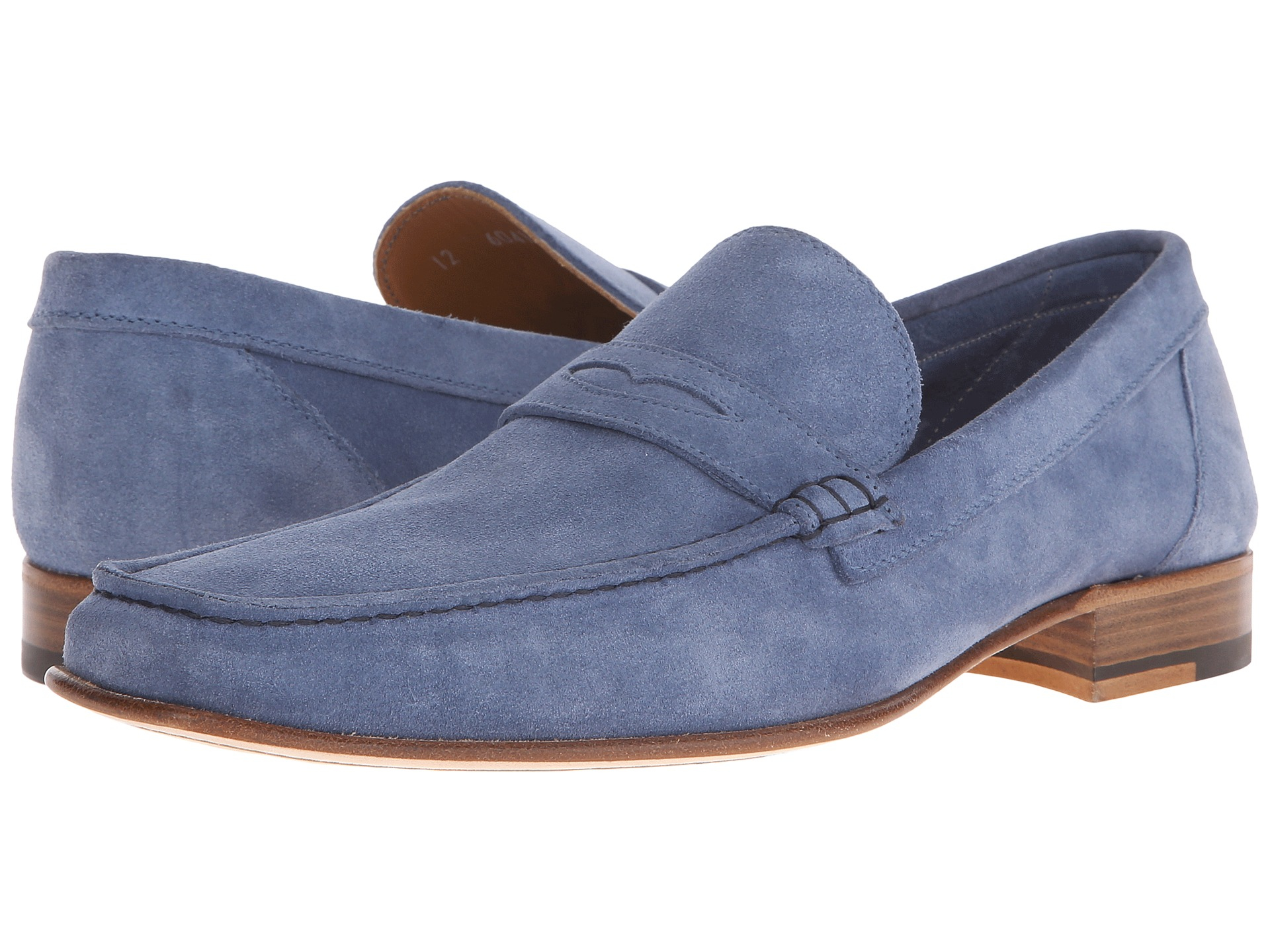 Lyst - A.testoni Unlined Suede Penny Loafer in Blue for Men