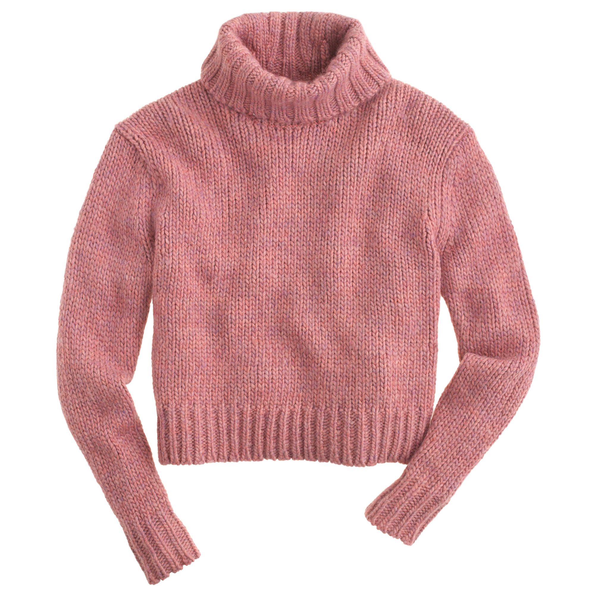 J.crew Petite Chunky Turtleneck Sweater in Pink | Lyst