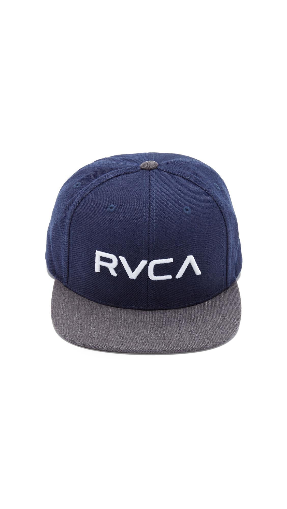 2345f809 sale rvca barlow twill snapback hat acb47 075da; clearance lyst rvca twill  snapback iii in blue for men 169f6 02fb5