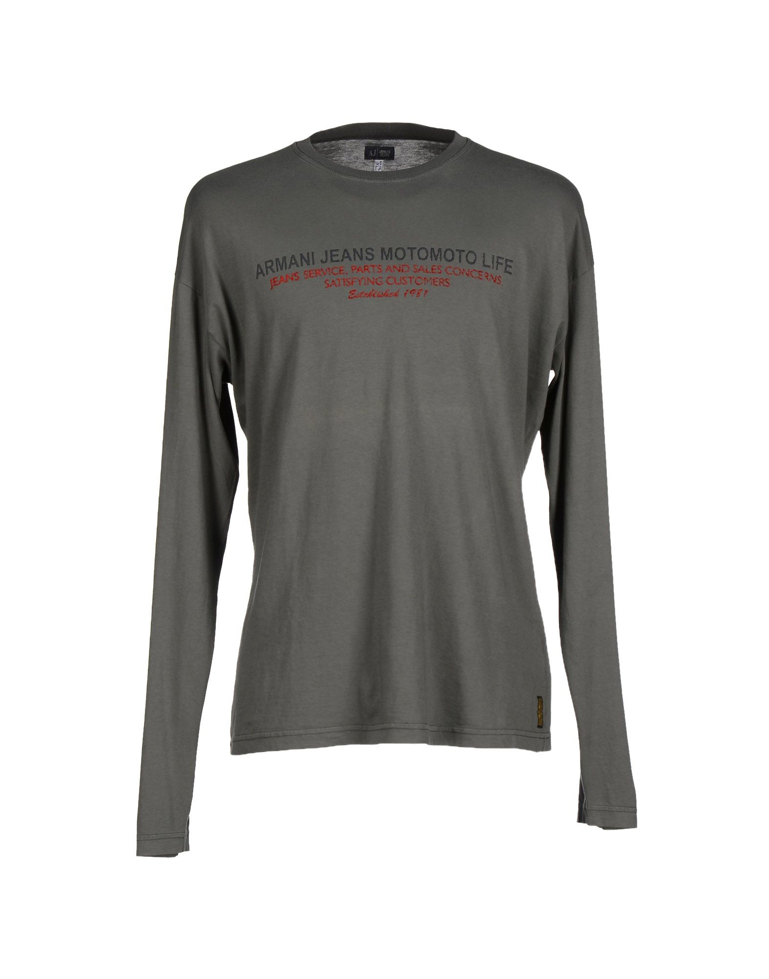 armani jeans t shirt in gray for men grey lyst. Black Bedroom Furniture Sets. Home Design Ideas
