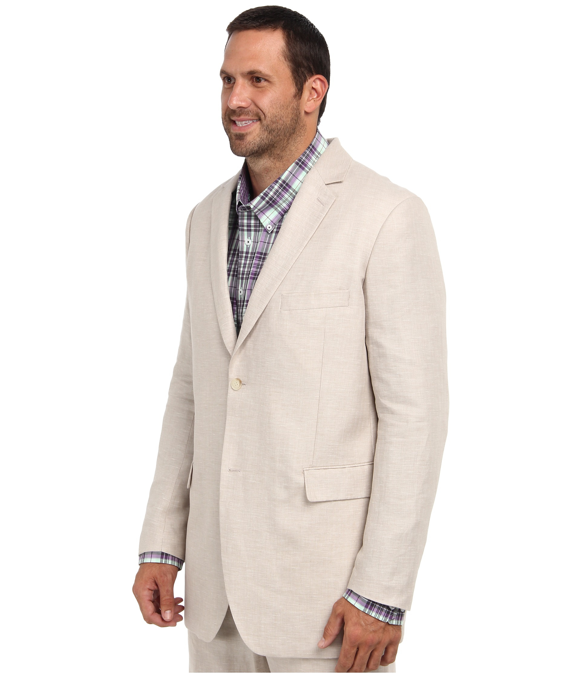 Men's big and tall linen suits in XL sizes. Find great deals on linen suits in large sizes. Sizes start at jacket size 40 and up. Wide selection of brand names for big & tall men.